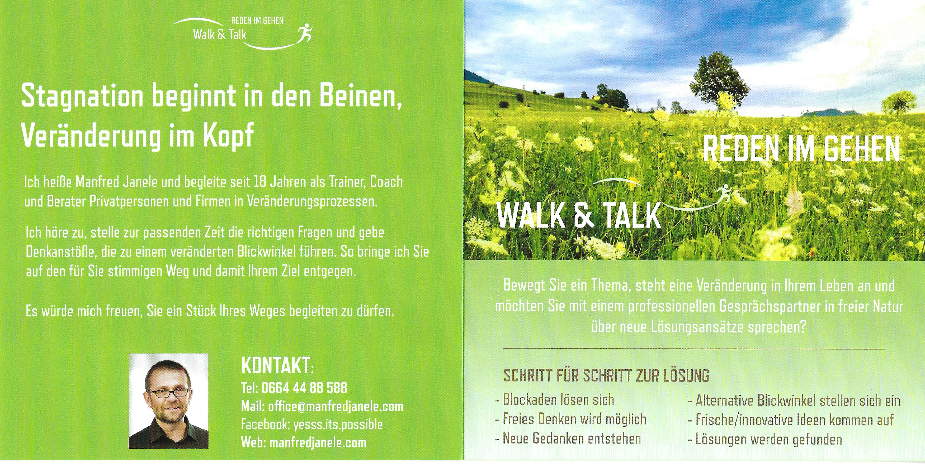 Walk & Talk Flyer Manfred Janele